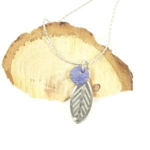 Bijou olfactif feuille acier - histoire de bijoux