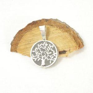 Bijou arbre de vie diffuseur d'huiles essentielles en argent