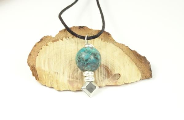 collier diffuseur Pendentif argent chrysocolle-Histoire de bijoux