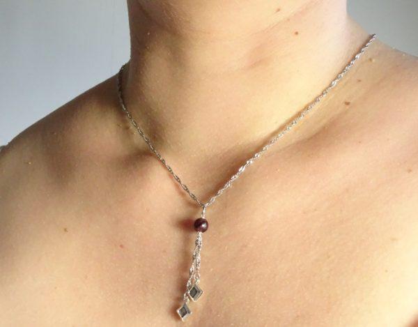 Bijoux diffuseur d'huile essentielle -grenat bijou original